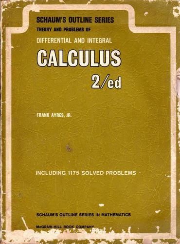 libro calculus - calculo mcgraw hill año 1964