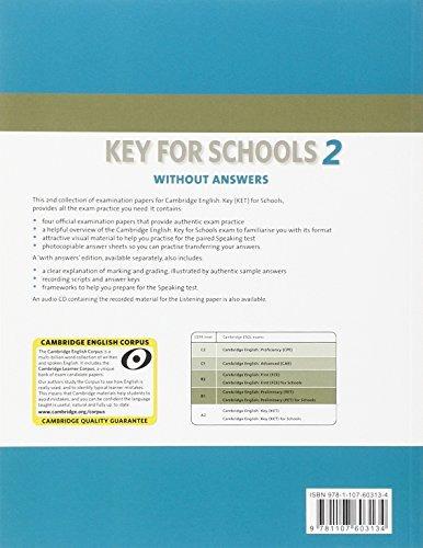 libro cambridge english key for schools 2 student's book w