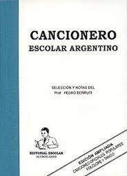 libro cancionero escolar argentino