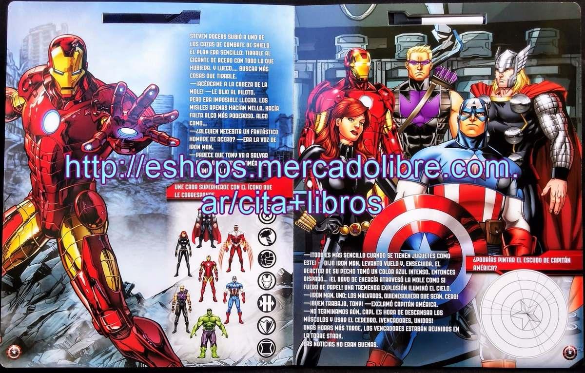 Libro Capitan America Maxi Cuentos De Colores - Maxiformato ...