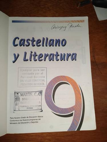 libro castellano y literatura 9