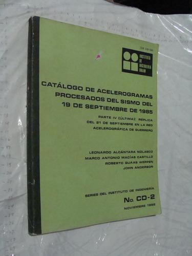 libro catalogo de acelerogramas procesados del sismo del 19