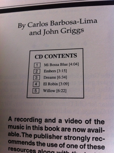 libro + cd brazilian music for acoustic guitar