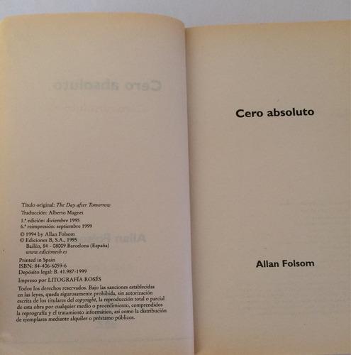 libro cero absoluto. allan folsom. u48