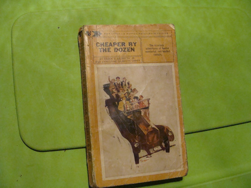 libro cheaper by the dozen , frank b. gilbreth  , 179 pagina