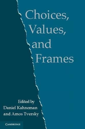 libro choices, values and frames - nuevo