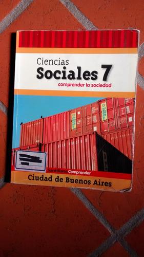 libro ciencias sociales 7 comprender la sociedad. santillana