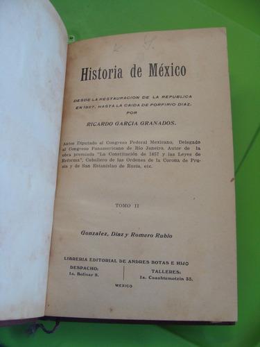 libro clave 33 antiguo año 1923 , historia de mexico , desde