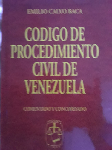 libro codigo de procedimiento civil de emilio calvo baca