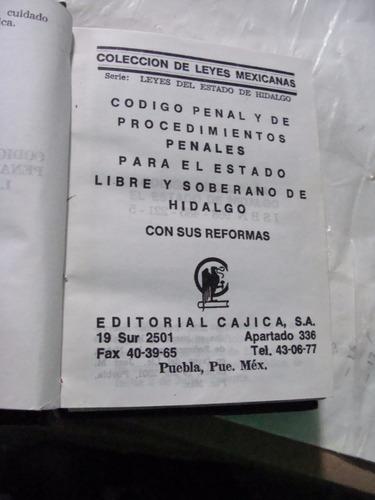 libro codigo penal y de procedimientos penales para el estad