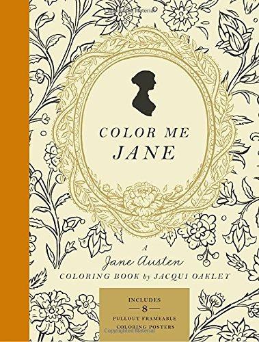 libro color me jane: a jane austen coloring book - nuevo