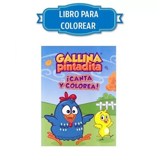 libro colorear gallina pintadita 16 páginas carta libro