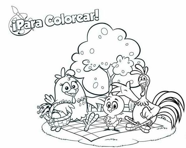 Libro Colorear O Crayolas Gallina Pintadita 16 Páginas Carta ...