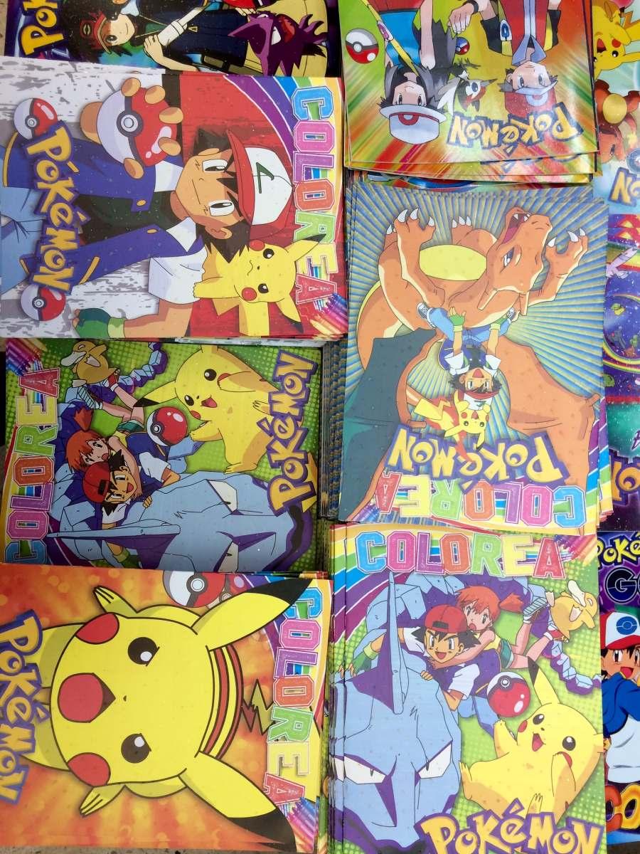 Libro Colorear Pokemon Go Pikachu Fiesta Regalo Bolo - $ 9.00 en ...