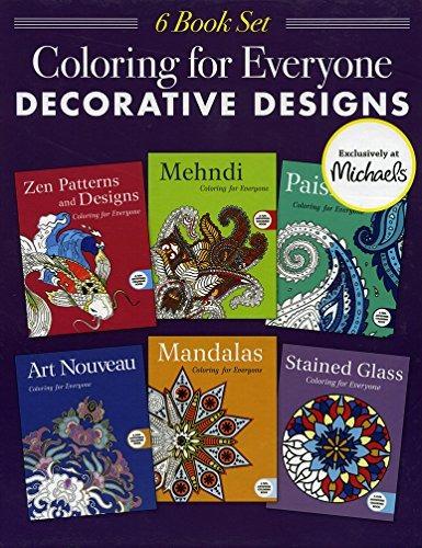 Libro Coloring For Everyone. Decorative Designs, 6 Libros Pa ...