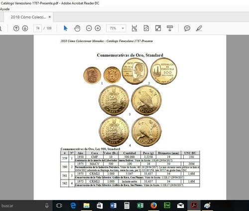 libro cómo coleccionar monedas catalogo venezuela 2018 7ma e