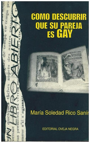 libro, cómo descubrir que su pareja es gay de maría s. rico.