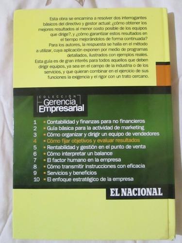 libro cómo fijar objetivos y evaluar resultados
