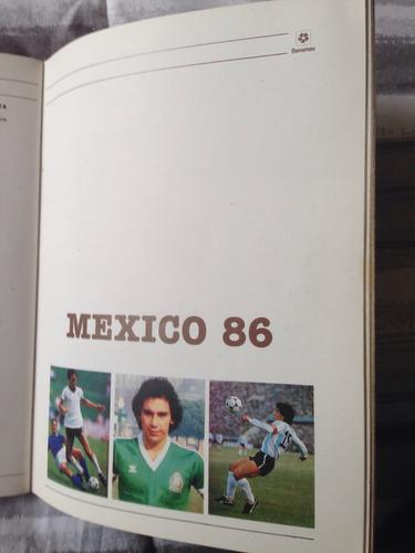libro conmemorativo del mundial de fútbol mexico 86