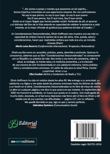 libro, consideraciones consideradas de efraín hoffmann.