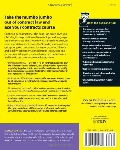 CONTRACT LAW FOR DUMMIES EBOOK