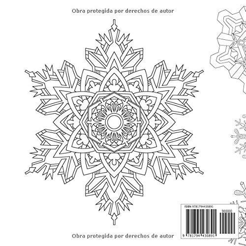 Libro Copos De Nieve Mandalas Motivos De Coloración No