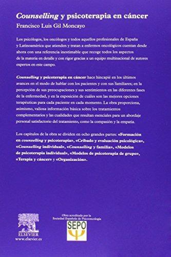 libro counselling y psicoterapia en cáncer - nuevo