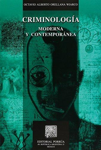 libro criminologia moderna y contemporanea - nuevo