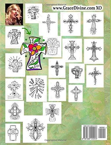 Libro : Cruces Libro De Colorear Nivel Facil Hermosa Insp...