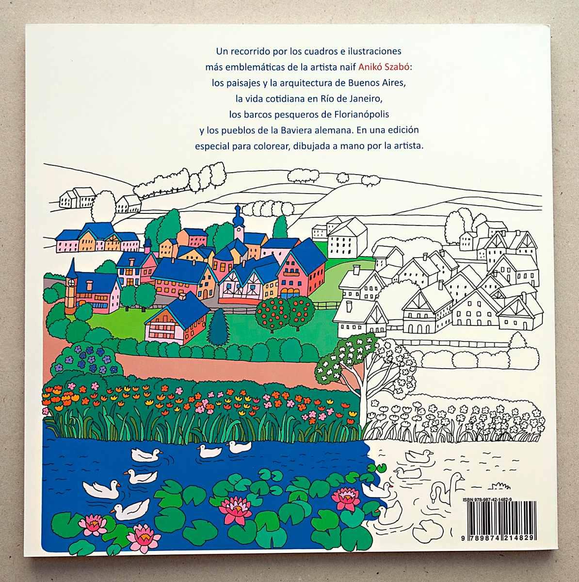 Libro Cuadros Naif Para Colorear De Aniko Szabo Autografiado - $ 330 ...