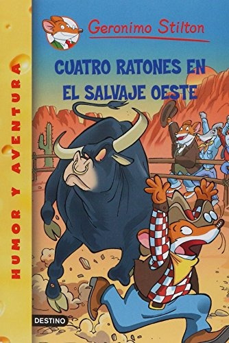libro cuatro ratones en el salvaje oeste - nuevo