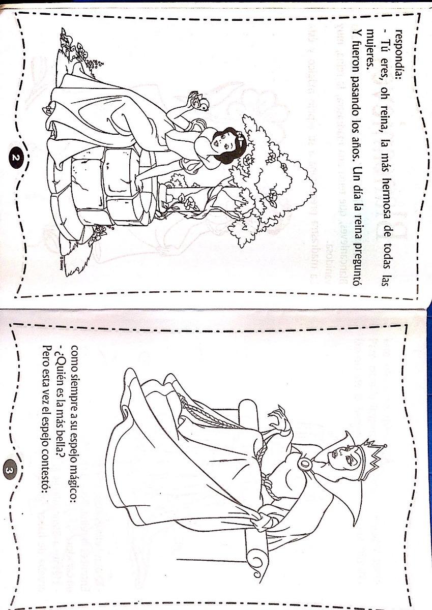 Libro Cuento Para Colorear De Blanca Nieves - Bs. 100,00 en Mercado ...