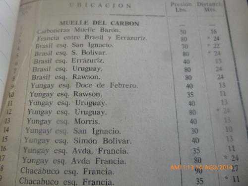 libro cuerpo bomberos de valparaiso  lista de grifos 65(89