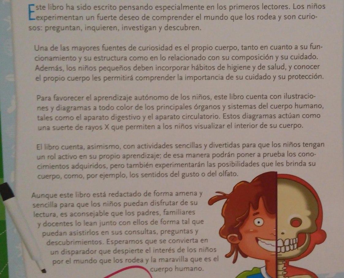 Libro Cuerpo Humano De Colores Ed Barcel Baires - $ 865,00 en ...