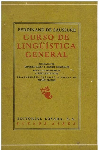 libro, curso de lingüística general de ferdinand de saussure