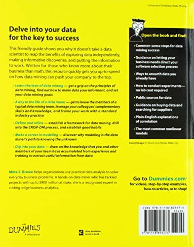 Libro Data Mining For Dummies - Nuevo