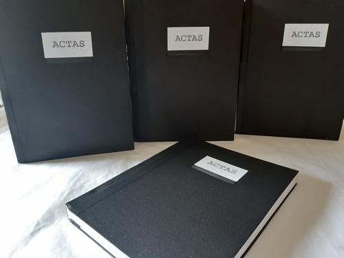 libro de actas 100, 200, 300, 400 y 500 folios