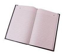 libro de actas 180 folios tapas negras duras oficio