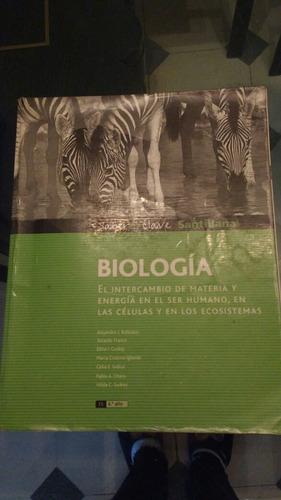 libro de biologia editorial santillana excelente estado