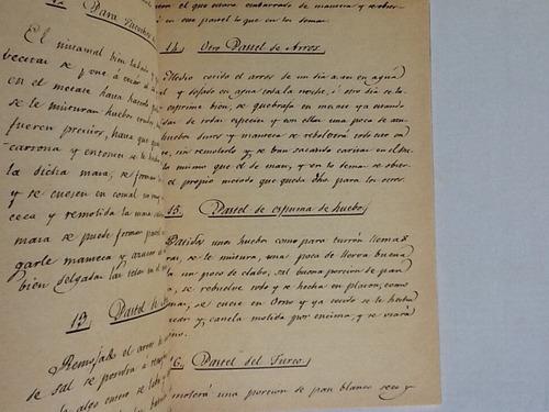libro de cocina de d.jose moreda facsimilar año 1832