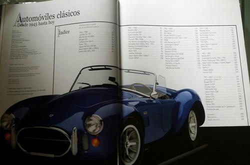 libro de coleccion de automoviles clasicos desde 1945