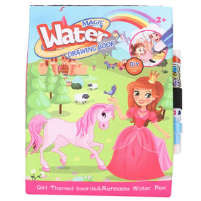 Libro De Colorear De Acuarela De Agua De Dibujos Animados Co