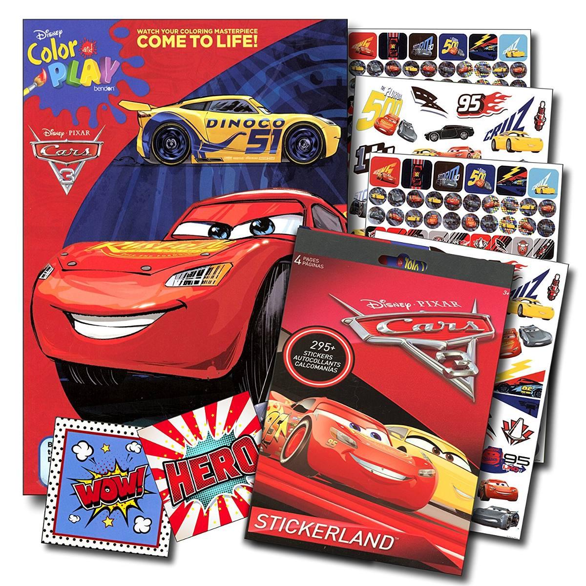 Libro De Colorear Disney Cars 3 Y Conjunto De Adhesivos S ...