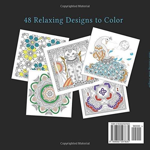 Libro De Colorear Para Adultos Mandalas Animales Y Patrones ...