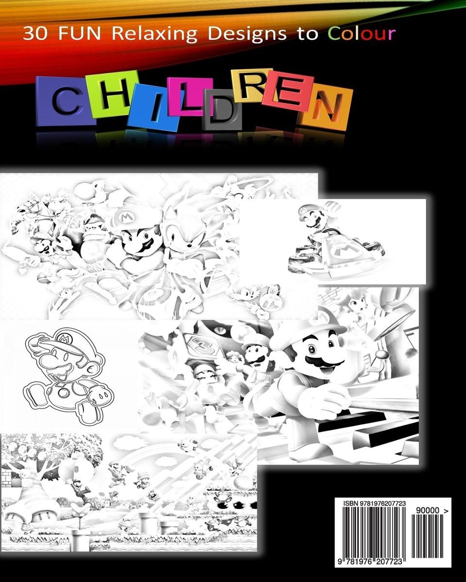Libro De Colorear Super Nintendo Mario Para Niños: Mario, Lu ...