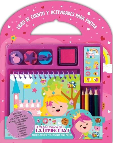 libro de cuento y actividades para pintar con stickers edu