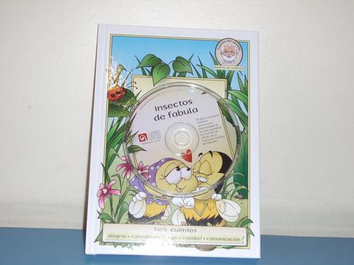libro de cuentos infantiles con un cd original (valores).
