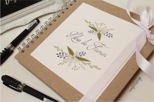 libro de firmas bonito pastal dura + 2 bolígrafos boda xv