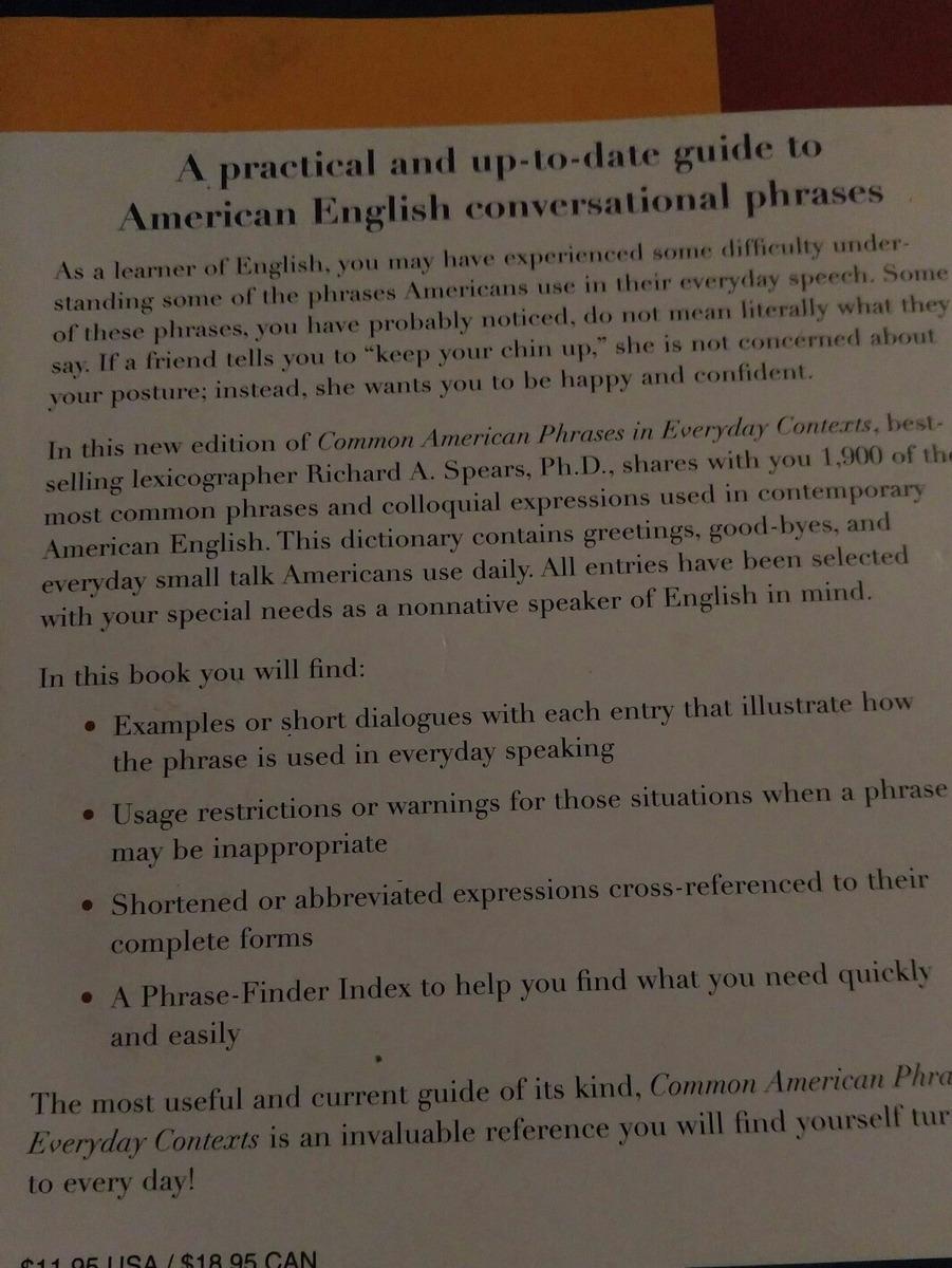 Libro De Frases Comunes En Ingles Con Su Uso Y Significado Bs 2000000