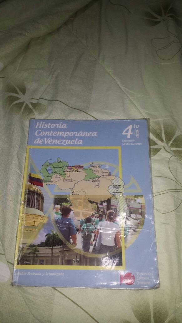 Libro De Historia Contempor Nea De Venezuela 4to A O Bs